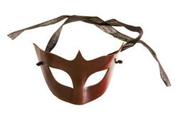 Half-mask made of brown leather Stock Photography