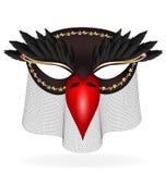 half-mask preto do pássaro abstrato Fotos de Stock