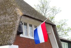 Half mast Dutch flag, Netherlands Royalty Free Stock Photo