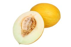 HALF OF MELON Stock Photo