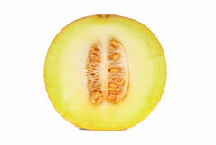 Half melon. Over white background Stock Images