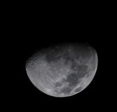Half moon. Telescope view of half moon Stock Photo