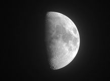 Half of moon. In the evening sky Royalty Free Stock Photography