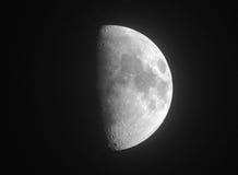 Half of moon Royalty Free Stock Photography