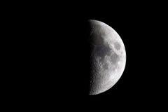 Half moon. On black background Stock Photos