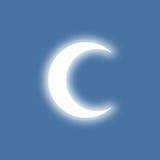 Half-moon. Shinning in light. Simple flat design Vector Illustration