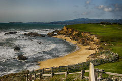 Half Moon Bay. Dramatic coastal view at Half Moon Bay in CA Royalty Free Stock Photo
