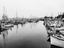 Half Moon Bay, CA USA - Fisherman Boats stock images