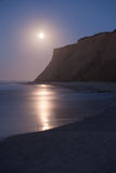 Half Moon Bay at Moonset Royalty Free Stock Photos
