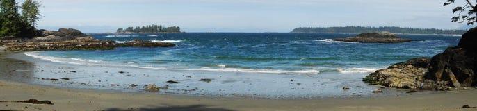 Half Moon Bay in paesi della costa del Pacifico Fotografia Stock