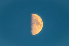 Half moon. Blue sky royalty free stock photos