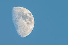 Half moon on a blue sky. Half big moon on a blue sky Stock Photos