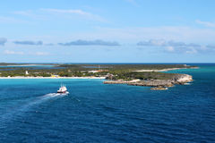 Half Moon Cay in the Bahamas Royalty Free Stock Photo