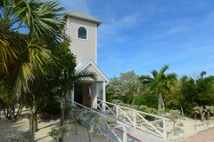 Half Moon Cay, Bahamas. Church at Half Moon Cay, Little San Salvador Island, the Bahamas. Half Moon Cay is a private island owned by Holland America Line in the royalty free stock photo