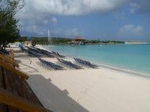 Half Moon Cay morning beach Stock Photo