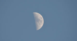 Half Moon in Daytime Sky Royalty Free Stock Photo
