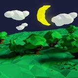 Half moon at night Royalty Free Stock Photo