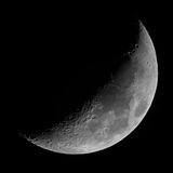 Half Moon. A picture of the half moon. Poznań-Poland Royalty Free Stock Photography