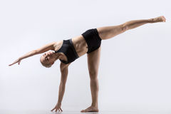 Half Moon Pose Royalty Free Stock Photos