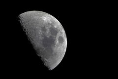 Half moon with sharp details Stock Images