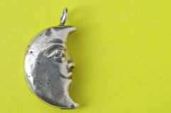 Half Moon Silver Jewel Stock Images