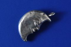 Half Moon Silver Jewel Stock Photos