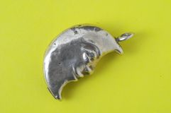 Half Moon Silver Jewel Stock Image