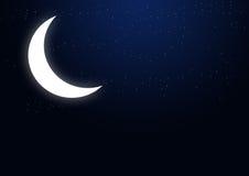 Half - Moon and Stars Royalty Free Stock Image
