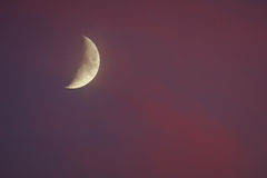 Half Moon at sunset Royalty Free Stock Images