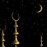 Half moon symbol of Turkish Mosque Royalty Free Stock Photography