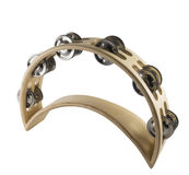 Half moon tambourine Royalty Free Stock Image