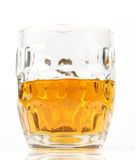 Half mug of beer Stock Photos