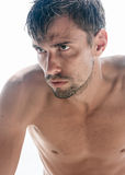 Half Naked Man with Beard Royalty Free Stock Image