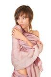 half naken sjal för flicka royaltyfria foton