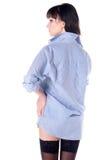 half nakna skjortastrumpor för härlig flicka Royaltyfri Bild