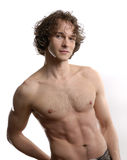 Half Nude Man. Young Male Model Pose for a Portrait Session Royalty Free Stock Photography