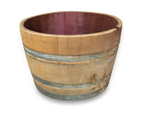 Half Oak Wine Barrel Stock Photos