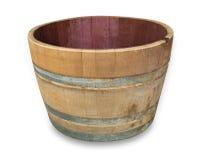 Half Oak Wine Barrel. Oak wine barrel cut in half Stock Photos