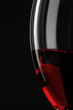 Half Of Red Wine Glass Royalty Free Stock Photography
