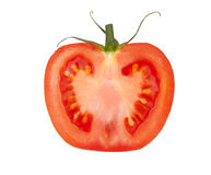 Half Of The Tomato Stock Images