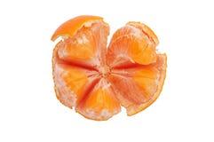 Half ontruimde mandarijn Stock Foto