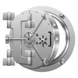 Half-open bank vault door on white Royalty Free Stock Images