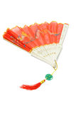 Half open Chinese traditional folding fan Royalty Free Stock Photography