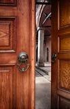 Half open doors Stock Images