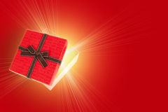 Half open gift box Royalty Free Stock Image
