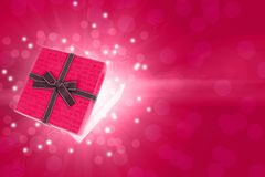 Half open gift box Royalty Free Stock Images