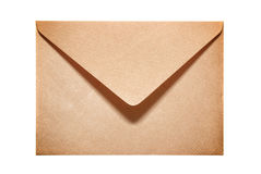 Half open old yellow paper envelope Royalty Free Stock Photography