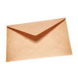 Half open old yellow paper envelope Stock Photos