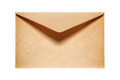 Half open old yellow paper envelope. Isolated on white background Royalty Free Stock Photos