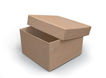 Half-open paper box 3d model Stock Photography